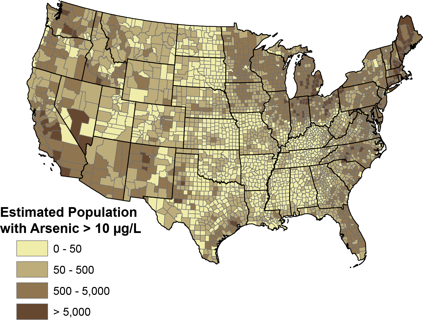 5 States with High Levels of Arsenic in Groundwater