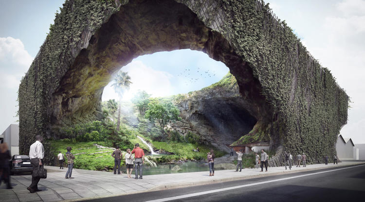 Kengo Kuma's design for cultural museum in the Philippines evokes prehistoric cave feel