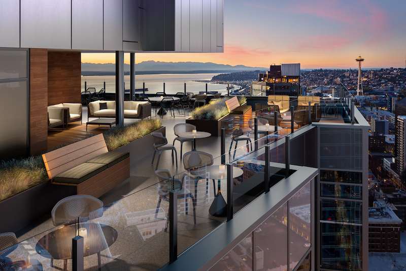 North terrace at the Emerald