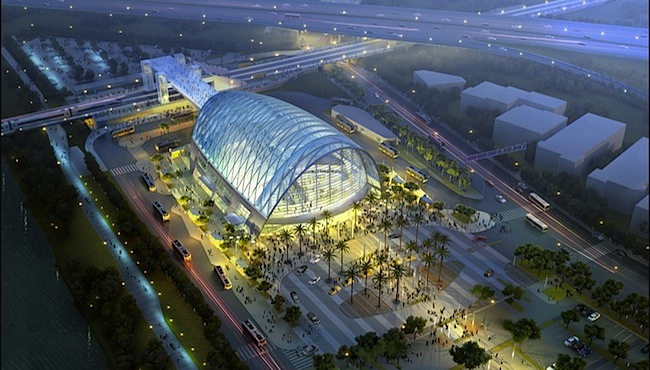 The Anaheim (Calif.) Regional Transportation Intermodal Center, designed by HOK,