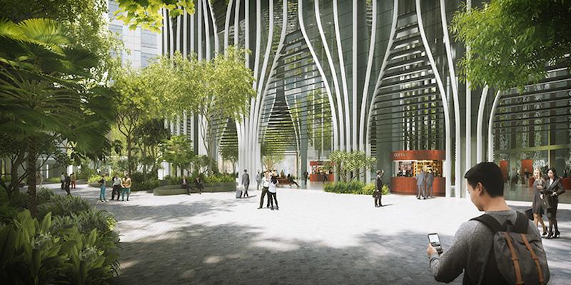 Ground floor rainforest plaza