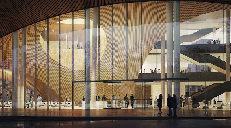 Snøhetta designs research library at Temple University