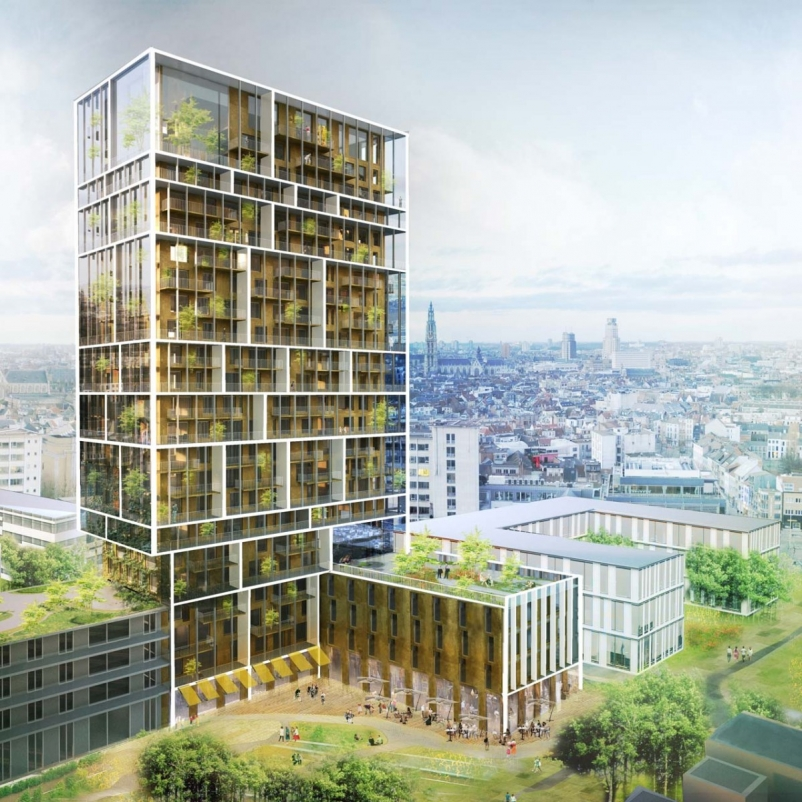 A high-rise with outdoor, vertical community space? It's