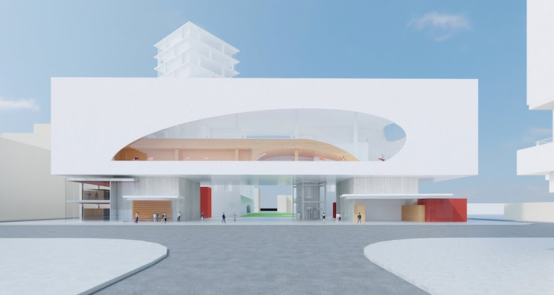Rendering of the Riverside Library