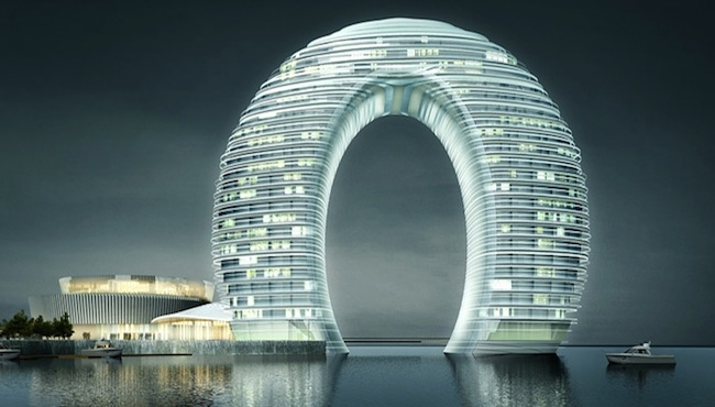 Located on Lake Tai, the Sheraton Huzhou Hot Spring Resort by MAD is a 102-meter