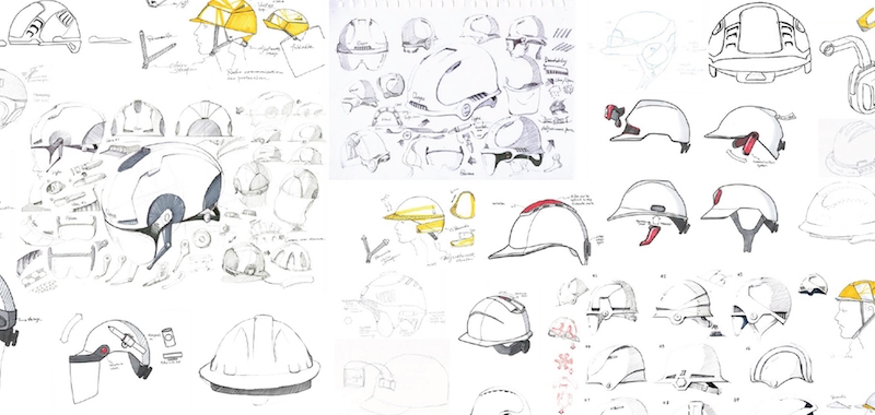 Two versions of a hard hat for the future are ready for