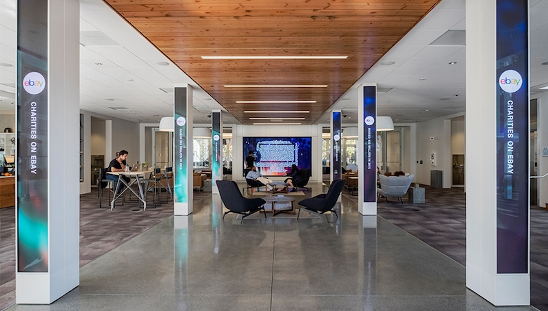 . eBay s San Jose headquarters has a new interactive hub and welcome