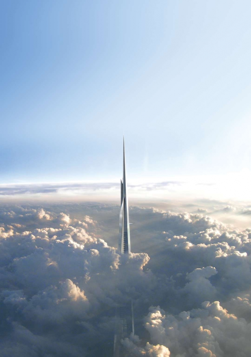 At more than 1 km, Kingdom Tower will be the world's tallest building.