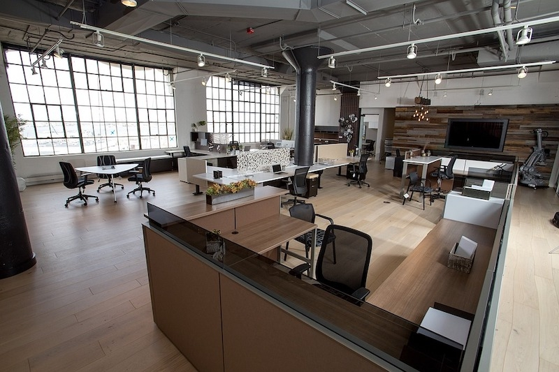 Empty office with furniture