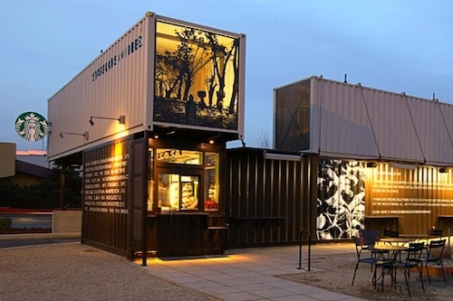 This suburban Seattle Starbucks was built with shipping containers.