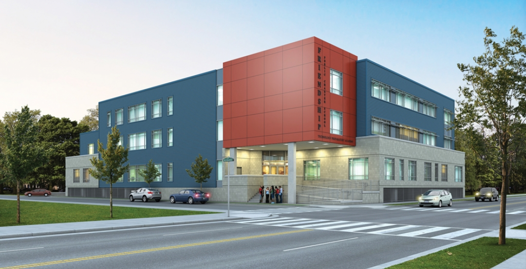 Friendship Technology Preparatory Academy, an 80,000-sf science and technology p