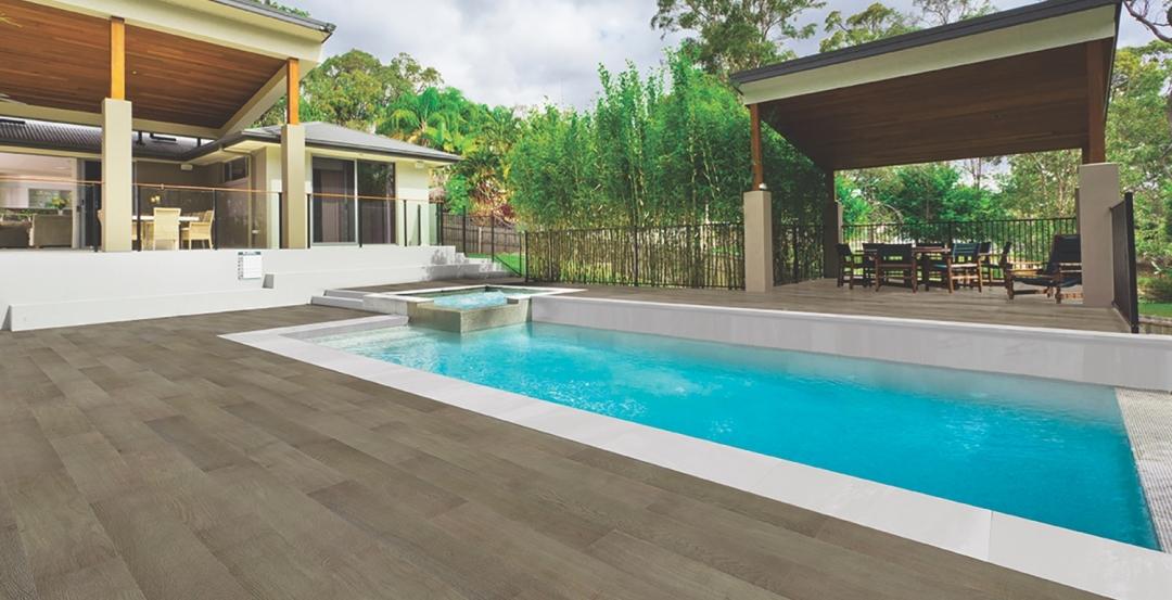Walker Zanger Anti slip around a pool