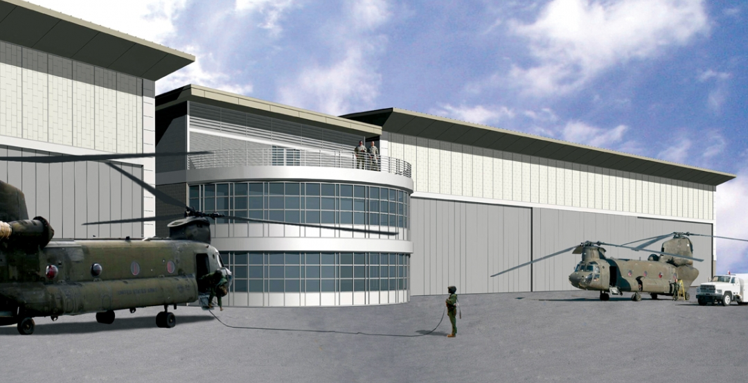 Construction of helicopter hangars in South Carolina gets