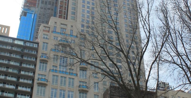 220 Central Park South's limestone facade