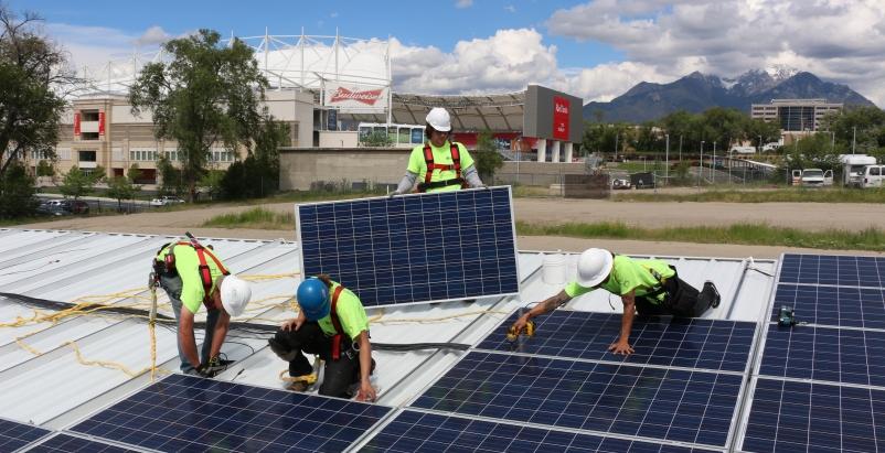 Solar carports power Major League Soccer stadium in Utah