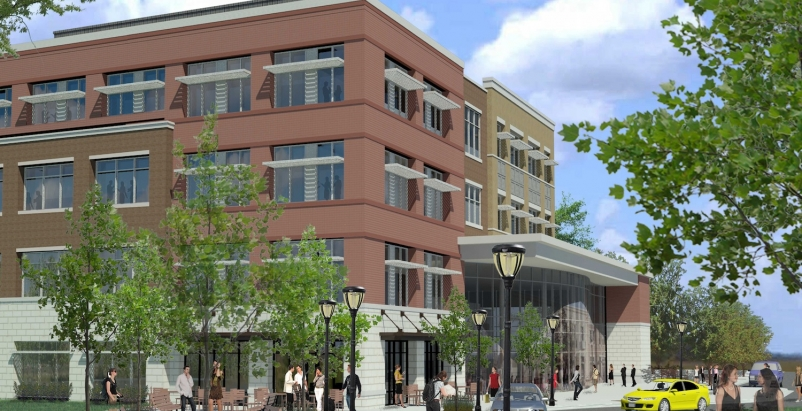 Uptown Bay City transforms a former industrial crane-manufacturing site into vib