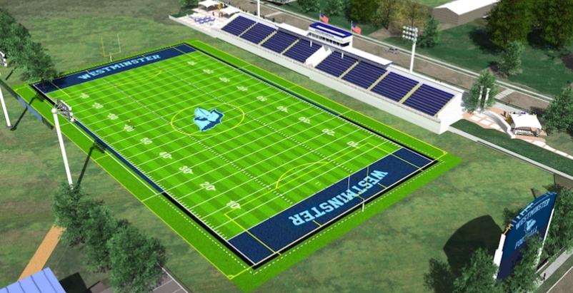 rendering of Westminster Athletic Stadium