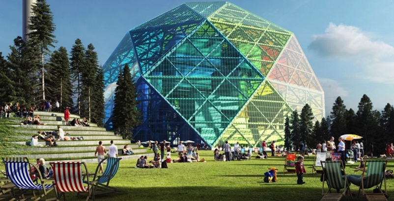 Bjarke Ingels designs geodesic dome for energy production, community use