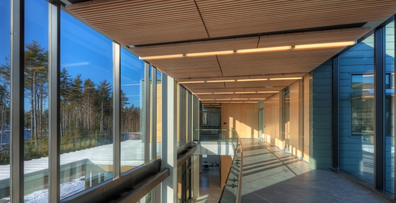 The 25,600-sf three-story building, which houses the worlds first microbial sin