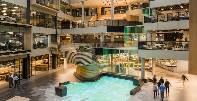2019 Office Sector Architecture Firms, 2019 Giants 300 Report, Microsoft London headquarters, Gensler, KD Architects, Photo Gareth Gardner, courtesy Gensler