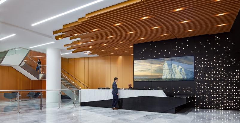 2019 Office Giants Report, 2019 Giants 300 Report, National Science Foundation headquarters, Alexandria, Va. Architect WDG Interiors Photo MAXWELL MACKENZIE
