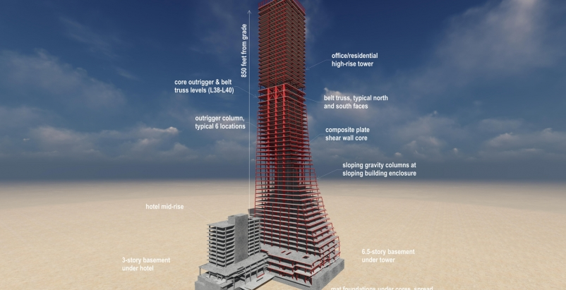 Skyscraper design, Rainer Square, 58-story tower, Seattle, speed core, Magnusson Klemencic Associates, Ron Klemencic, AEC Innovators