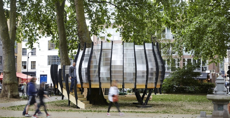 Pop-up tree-office opens in London borough of Hackney