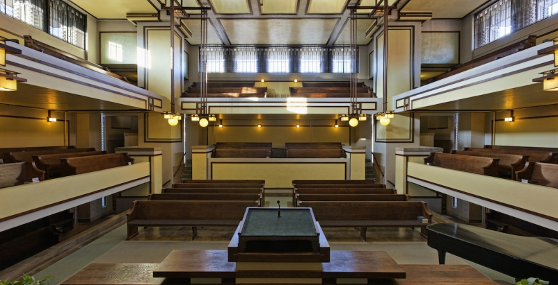 Unity Temple (Chicago), Photo by James Caulfield, courtesy Frank Lloyd Wright Trust