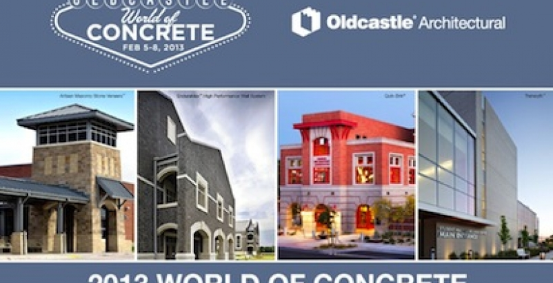 Oldcastle Architectural to exhibit at World of Concrete