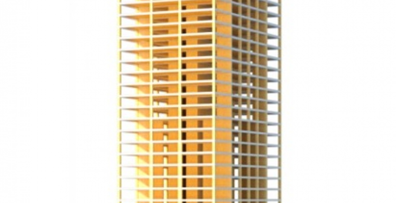The Timber Tower, @SOM