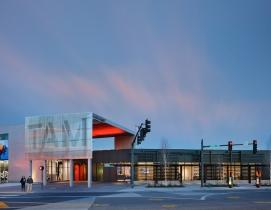 Tacoma Art Museum's new wing features sun screens that operate like railroad box car doors