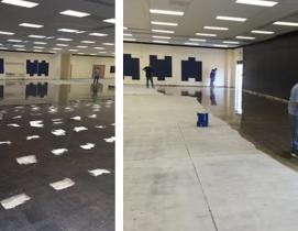 Suburban L.A. high school battles moisture-soaked flooring