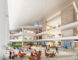 Rendering of an airport concourse