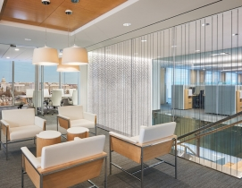 Conference room and office space at the APA's new office