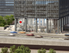A rendering of the Chicago Architecture Center