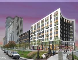 CBD Detroit exterior rendering