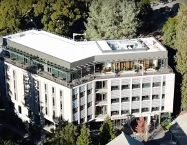 Chou Hall aerial shot