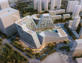 5+design looks to mountains for Chinese transport hub design