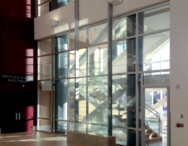 The architects were able to create a 2-hour exit enclosure/stairwell that provid