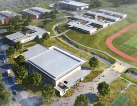 Aerial rendering of Kihei High School