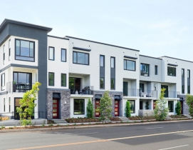 LUX luxury townhomes exterior