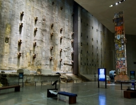 Part of the World Trade Centers original foundation, this wall was built to kee