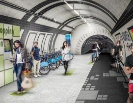 Gensler proposes network of cycle highways in London's unused underground