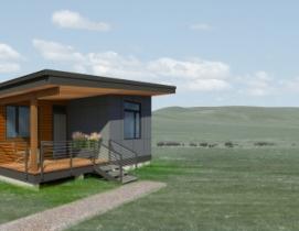 Method Homes' home design for the Fort Peck Indian Reservation.
