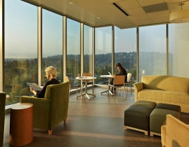 Staff lounge at the University of Washington Medical Center Montlake Tower