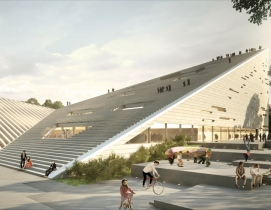 SANAA and Snøhetta tie at first place for Budapest museum bid