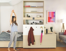 Robotic interiors: How to make a studio apartment feel as big as a one-bedroom unit