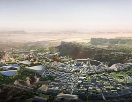 Aerial view of Qiddiya