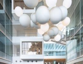 Vanke Times Center interior hanging sculpture