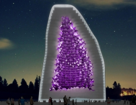 Crystalline Amethyst Hotel Rendering NL Architects
